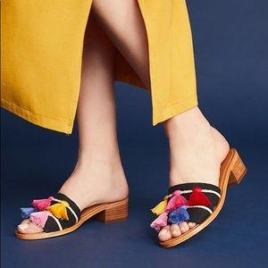 6648644ba44 Soludos Shoes - Soludos • Multicolor Tassel Boho Sandals Slides